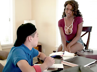 Black MILF Teacher Fucks Teen Varlet