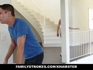 FamilyStrokes - Off colour Housewife Fucks Stepson