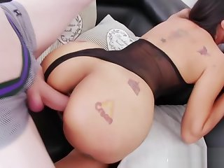 A temperamental threesome with lovely shemales Jureka and Jonelle