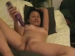 Petite matured Asian hoe loves to fuck herself with say no to rabbit vibrator
