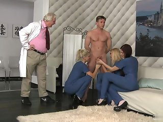 Mira Sunset, Cherry Kiss, and Blanche Bradburry have on no occasion been so into anal sex