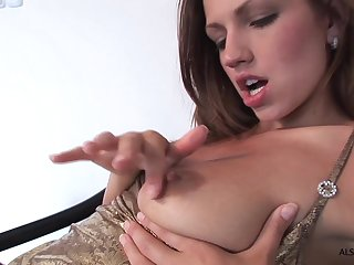 Skinny toddler with small tits gets naughty in hot solo action