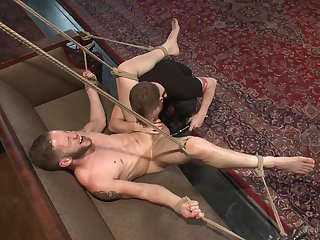 Wolf Hudson partakes in gay male menial training, increased by the result is hot