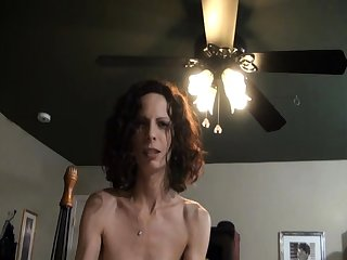 Shaved mom gaping with cumshot