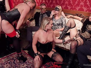 Upper floor orgy leads along to women to crazy acts of dealings