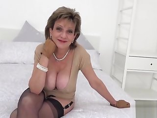 Unfaithful english milf lady sonia showcases her enormous hooters