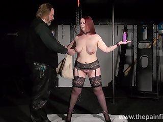 Bondage slut downland stockings Kitty holds candles during hardcore treatment