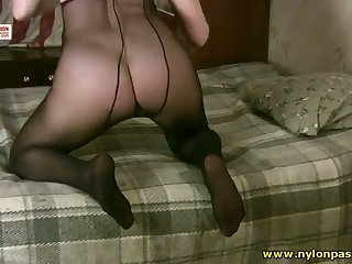This floozy has a pantyhose addiction increased by say no to well-known natural tits are awesome