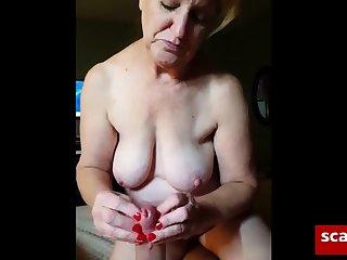 Amateur, Granny, Handjob,
