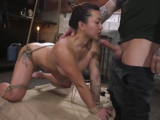 Curvaceous Asian milf Jasmine Ryder is required up and fucked wits brutal pervert