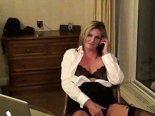 Secretary Sam in a Hotel Room