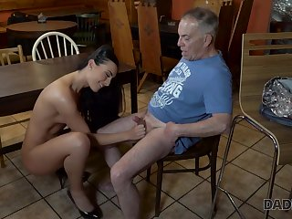 Anna has old and young sex act in the bar be advisable for her boys padre