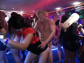 Group of wild adults roger all over the room at hot sexual connection party
