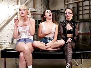 Lesbian ass plus pussy dilatation with sex toys - Chloe Cherry
