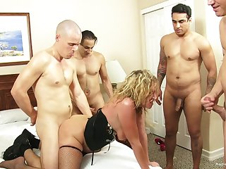 Peaches wife teases her husband's Pty and gets gangbanged