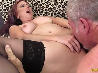 Hot and sexy old women enjoy their mature pussies getting licked good