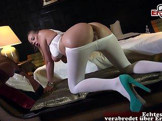 German anal in pantyhose fuck milf