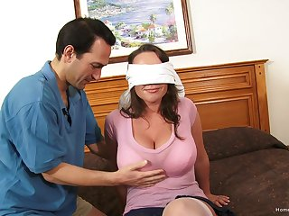Blind-folded wed experiences her saucy home gangbang