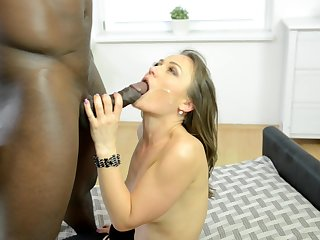 Fabulous interracial fucking with cock hungry model Angel Karyna