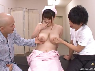 Big natural tits, Big tits, Bra, Bus, Japanese, Natural, Threesome, Tits,