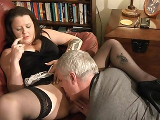 Dude with a impressed dick licks and fucks wet pussy of beamy Crystal