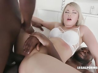 Amazing Auric Hair Babe Bawd Slvaggia Doubled - Hd Video